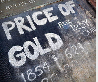 sign price of gold mining