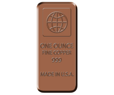One Ounce Fine Copper Bar