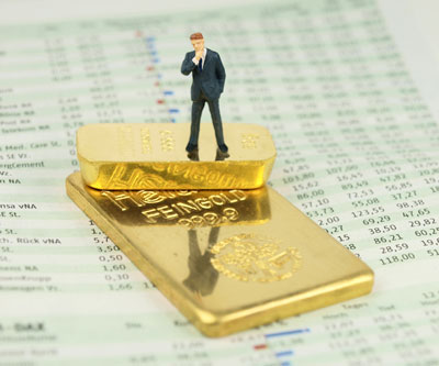 gold bars and stock prices mining