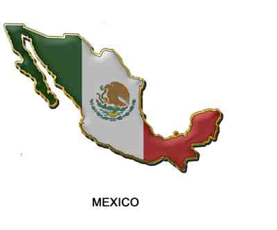 mexico map flag mining
