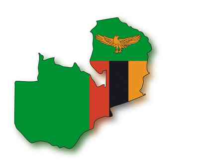map flag Zambia