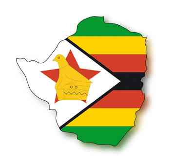 map flag Zimbabwe