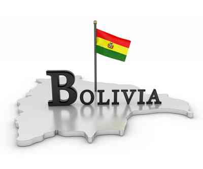 Bolivia country and flag mining