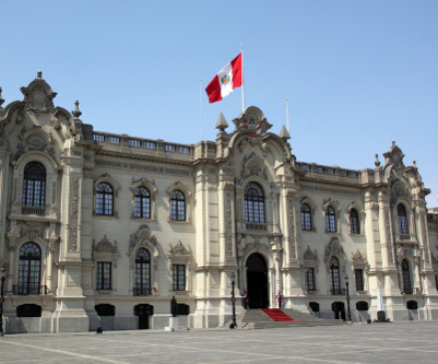 Shutterstock: Facade of President palace in Lima, Peru