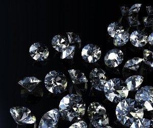 diamonds black background