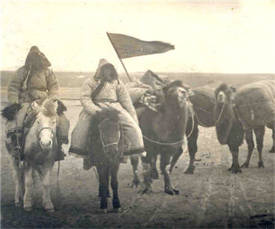 Image of Oirat Caravan date or publisher unknown from Wikipedia