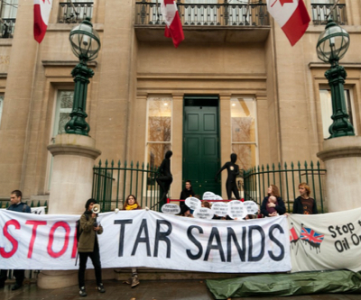 Anti oil sands protest blocks Canada-EU Energy Summit in London