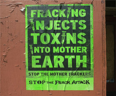 fracking poster hydraulic fractuing