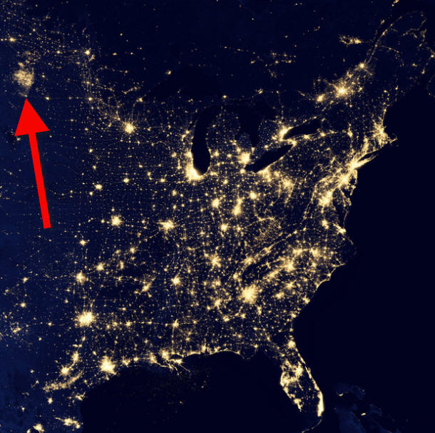 bakken view from space north dakota