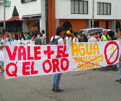 Hundreds march against AngloGold Ashanti in Colombia