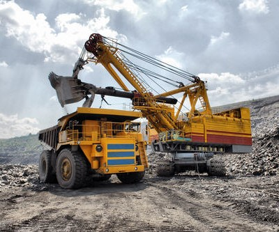 Mining truck and loader