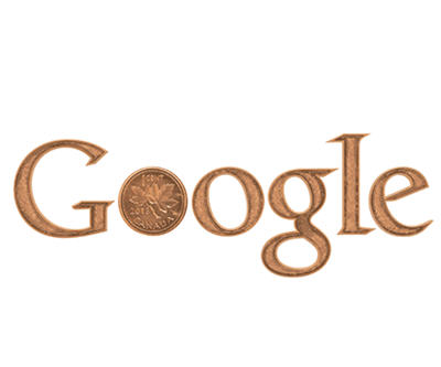 Canada penny on Google