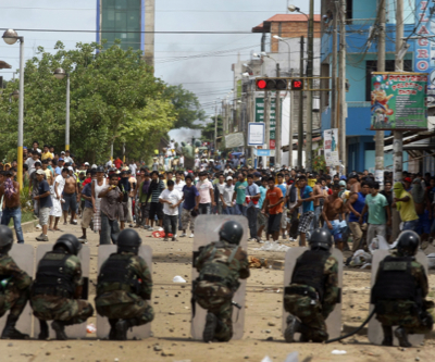 Terrorists allegedly leading protests against Canadian miner in Peru