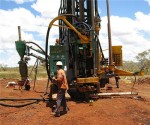 Drill rig on minesite in Western Australia