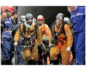 Rescue team at Chinese mine