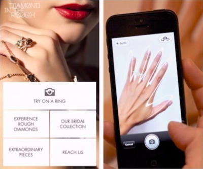 Modern day diamond ring shopping: try it on your smartphone first
