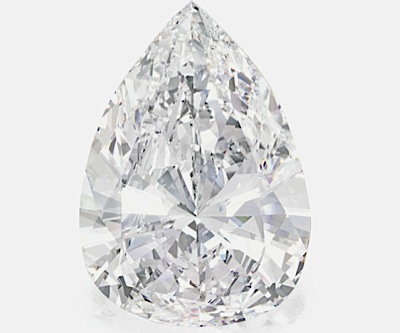 Pear-shaped 75-carat diamond may sell for over $12 million