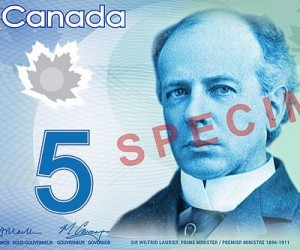 Canada new $5 bill detail