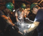 Emerald miners in Colombia