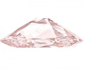 Princie pink diamond side view