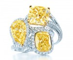 Tiffany yellow and white diamond rings