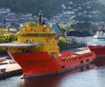 Oil rig supply ship in Norway