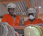 Workers at Kilimapesa gold mine in Kenya
