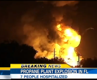 Extensive damage but no deaths in Florida's gas plant blasts