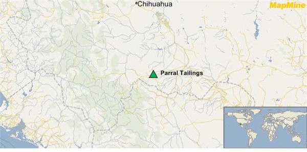 parral tailings map gogold resources