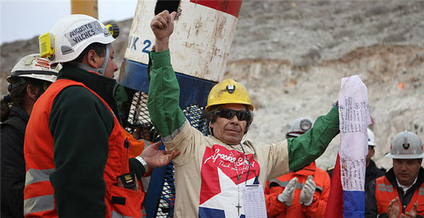 the chilean copper mine collapse Esteban rojas, 44, prays after being rescued from the san jose gold and copper mine, near copiapo, chile, on wednesday rojas is one of 33 miners who have been trapped a half a mile below ground since the aug5 collapse of the mine.