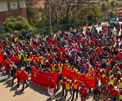 South Africa's gold sector in standby as wave of strikes hits the country