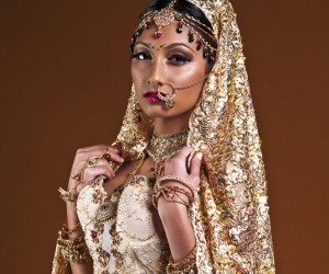 Gold Indian bride
