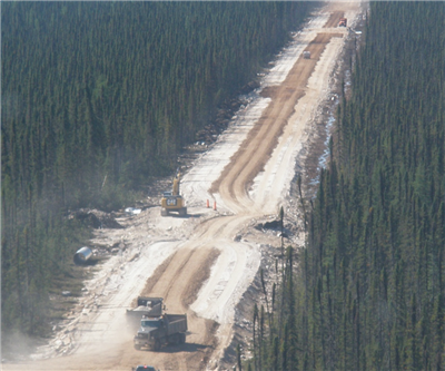 Stornoway Diamond Corp builds road to Renard project
