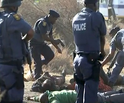 South African police planned shooting at Marikana mine — video