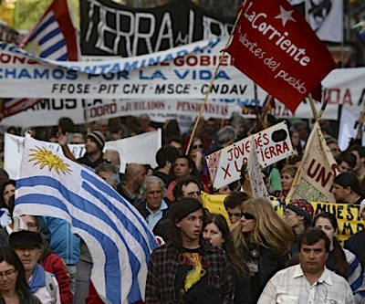 Thousands march against large-scale mining in Uruguay
