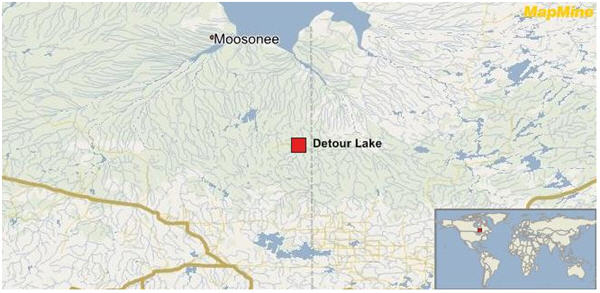 detour lake map