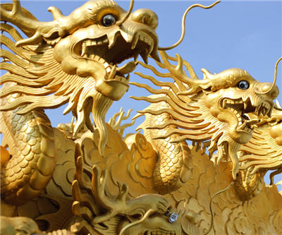 china dragon gold