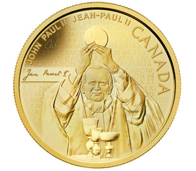 Canadian mint honours Pope John Paul II with gold, silver coins