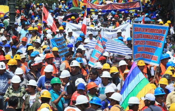 Thousands of Peruvians protest against tougher illegal mining rules