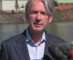 Thomas Boehlert, president and CEO of First Nickel Inc. at a conference Tuesday. Source: Youtube.