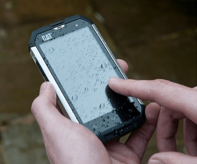 CAT proves new B15 smartphone resilience by running it over with a bulldozer