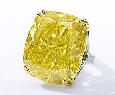 This is how the Graff Vivid Yellow, one of the most expensive coloured diamonds, looks like