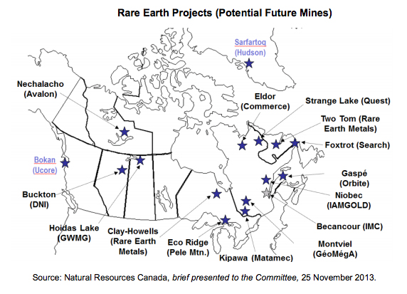 Canada identifies top rare earth projects