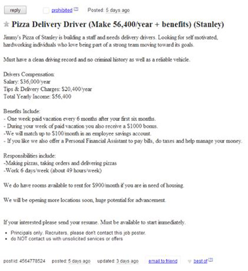 do pizza delivery drivers get paid