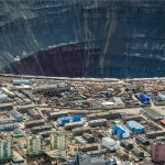 These photos will show you just how big a Russian diamond mine can be
