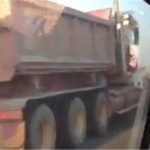 VIDEO: Dump truck on highway is hauling A LOT of loads