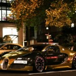 Gold Arab supercars hit the streets of London