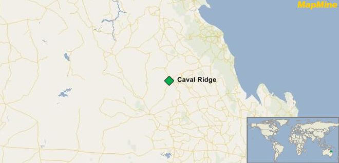 Map caval ridge queensland BHP Billiton metallurgical coal