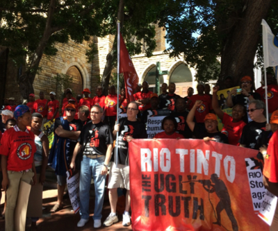 Rio Tinto faces day of defiance by thousands of workers