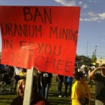 Canadian First Nations march to demand ban on uranium exploration in Quebec